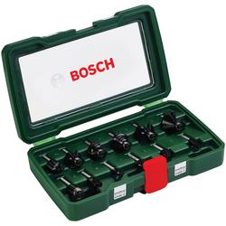 BOSCH Fräser-Set , 12-tlg., 8 mm Schaft grün