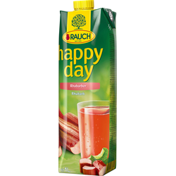 Rauch Happy Day Rhabarber Fruchtsaft fruchtig herb 1000ml 6er Pack