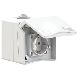 PCE 8630v Aufputz-Steckdose ballwurfsicher IP44 Weiß