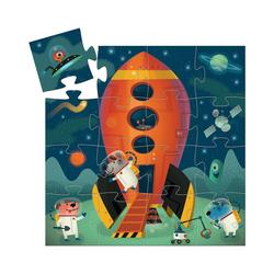 DJECO Puzzle Formen-Puzzle Spaceship, 16 Teile, Puzzleteile