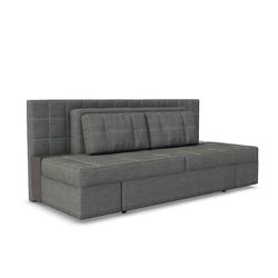 Vicco 3-Sitzer Schlafsofa mit Bettfunktion 235 x 105 cm Grau Dreisitzer Couch Schlafcouch