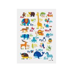 byGraziela Poster Poster Tier ABC, 50 x 70 cm bunt