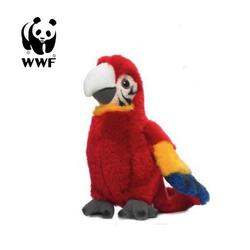 WWF Plüschfigur Plüschtier Hellroter Ara Papagei (mit Sound, 14cm)