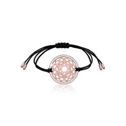 Nenalina Armband Herz Chakra Kristalle 925 Silber róse rosa