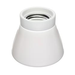 E27 Porzellan Lampen-Fassung MINZ, rund, weiß, 72mm