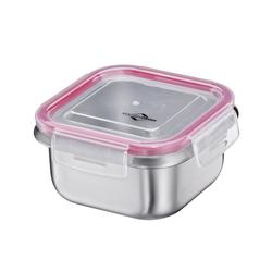 KÜCHENPROFI Lunchbox Brotdose aus Edelstahl 12,5 x 12,5 cm 0,5 Liter