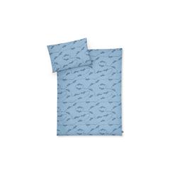Julius Zoellner Jersey Bettwäsche in blau mit Muster Pickup, 80 x 80 cm