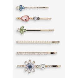 Next Haarklammer Kristallblume-Haarspangen, 6er-Pack, 1-tlg. goldfarben