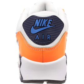 Nike Men's Air Max 90 Essential white-orange-navy/ white-navy, 44.5