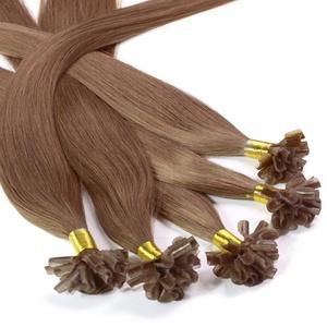 hair2heart 200 x 0.5g Echthaar Bonding Extensions, glatt - 30cm - #10 straßenköterblond