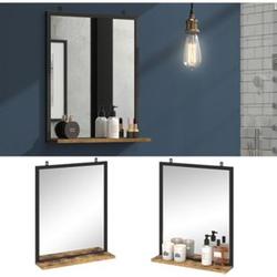Vicco Badspiegel Fyrk Vintage Badezimmerspiegel mit Ablage Wandspiegel für Bad