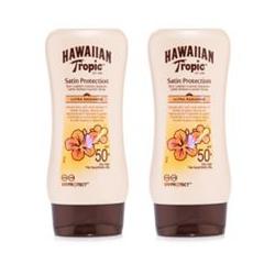 HAWAIIAN TROPIC™ Satin Protection Sonnencreme mit LSF 50+ 2x 180ml