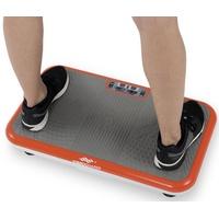 VibroShaperT Vibrationsplatte, 200 W, 3 Intensitätsstufen, (Set, 2 tlg., mit Trainingsbändern) orange