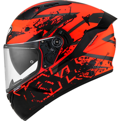 KYT NF-R Neutron Helm, schwarz-rot, Größe XS