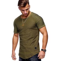 behype T-Shirt ARNOLD im Biker-Style grün S