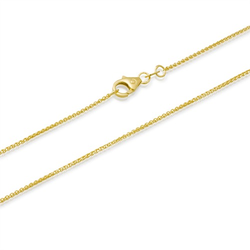 585er Goldkette: Zopfkette Gold 50cm