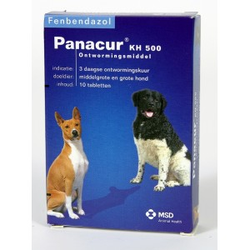 Panacur 500 Entwurmungsmittel für mittelgroße & große Hunde 20 tabletten