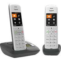 Gigaset CE575A Duo Analoges DECT-Festnetztelefon in Silber/Schwarz (Mobilteile: 2)