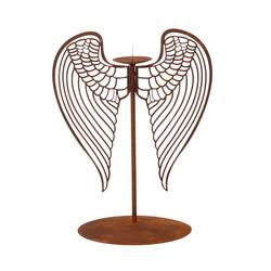 Lünemann Leuchter mit Flügel 28cm Edelrost Kerzenhalter