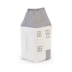 CHILDHOME Aufbewahrungsbox Aufbewahrungstasche Haus, grau