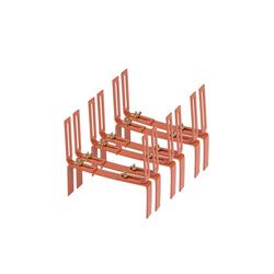 BigDean Wandhalter Blumenkastenhalter Standard H−Form Kasten Halter Balkonkastenhalter, 3-St. braun