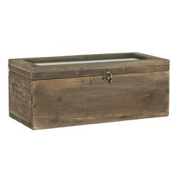 Ib Laursen Holzkiste Holzkiste Alt Holz Kiste Box Holzbox mit Glasdeckel 3 Fächer Ib Laursen 5207 14