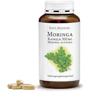 Sanct Bernhard Moringa-Kapseln mit 500 mg Moringa Oleifera Blattpulver je Kapsel