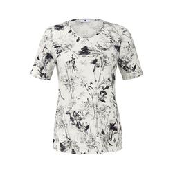 Shirt mit Blumenmuster mit Rispen Anna Aura weiß/schwa
