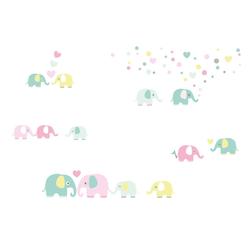 lovely label Wandsticker Elefanten bunt