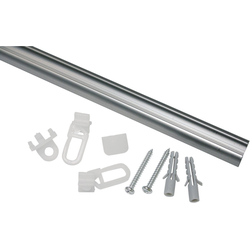 Gardinenschiene Aluminiumschiene, GARDINIA, Serie Aluminiumschiene Ø 13 mm Ø 1,3 cm x 150 cm