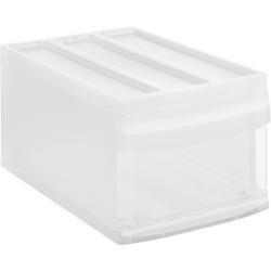 Rotho SYSTEMIX Schubladenbox, 1 Schubfach, Aufbewahrungsbox aus PP-Kunststoff , Maße: 395 x 255 x 203 mm, transparent
