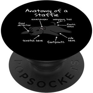 Anatomy Of A Staffordshire Bullterrier Lustiger Hund - PopSockets Ausziehbarer Sockel und Griff für Smartphones und Tablets