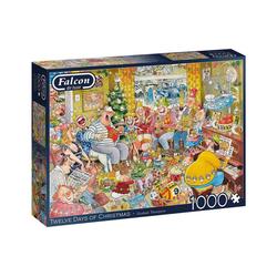 Falcon Puzzle 11279 Twelve Days of Christmas 1000 Teile Puzzle, Puzzleteile