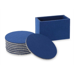 Lantelme Getränkeuntersetzer 8 Stück Untersetzer mit Box, 9-tlg., Filz, blau, 10cm