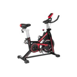 SONGMICS Heimtrainer SEB617R01, Fitnessfahrrad, Hometrainer, schwarz-rot