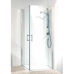 maw Eckdusche Relax, mit Drehtür silberfarben Duschkabinen Duschen Bad Sanitär