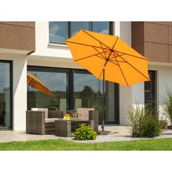 Schneider Schirme Sonnenschirm Harlem, ohne Schirmständer orange Sonnenschirme -segel Gartenmöbel Gartendeko