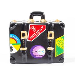 Mel-O-Design Cityrucksack Mel-O-Design Spardose Koffer Urlaubskasse
