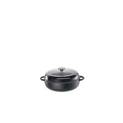 Küchenprofi Bratpfanne Bauernpfanne mit Glasdeckel PROVENCE Ø 24 cm