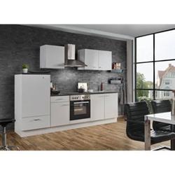 Menke Küchen Küchenzeile White Classic 270 cm, weiß