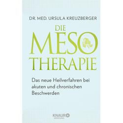 Die Mesotherapie als Buch von Ursula Kreuzberger