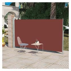 vidaXL Sonnenschirm Einziehbare Seitenmarkise 160 x 300 cm Braun
