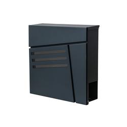 MCW Briefkasten MCW-B28, Zylinderschloss, Inkl. 2 Schlüsseln und Montagematerial grau