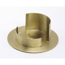 Taufkerzenhalter Messing gold matt, für Ø 7 cm Taufkerzen