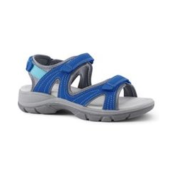 Allwetter-Sandalen, Damen, Größe: 42.5 Weit, Blau, Wolle, by Lands' End, Classic Kobaltblau - 42.5 - Classic Kobaltblau