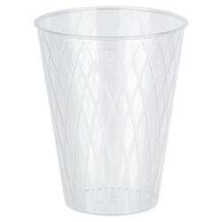 Apfelweinglas 0,25l | 250ml Raute-Design mit Eichstrich glasklar PS, 40 Stk.