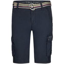 TIMEZONE Shorts Maguire mit 100% Baumwolle blau W 30