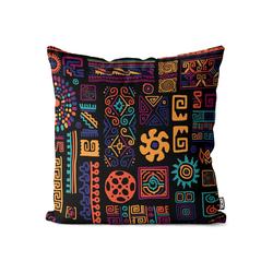 Kissenbezug, VOID (1 Stück), Ethnisches Muster Kissenbezug ethnisch afrikanisch mexikanisch griechisch 60 cm x 60 cm