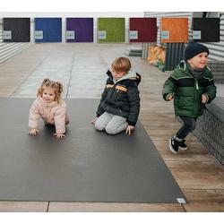 Sanosoft Spielmatte Outdoor Krabbelmatte - Das Original., Krabbelunterlage - Made in Germany grau 120 cm x 450 cm x 0,5 cm