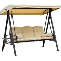 Outsunny Hollywoodschaukel beige 3-Sitzer (0690431)